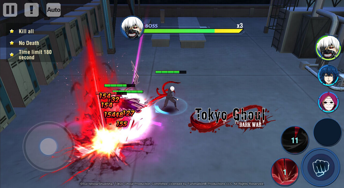 3D mobile game based on Tokyo Ghoul--Officially authorized